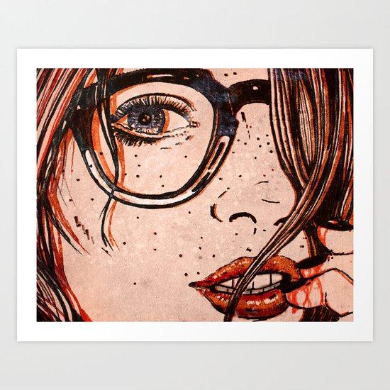 LE REGARD Art Print