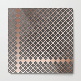 Copper & Concrete 02 Metal Print