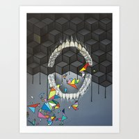 rooster teeth Art Prints featuring Teeth by VikaValter