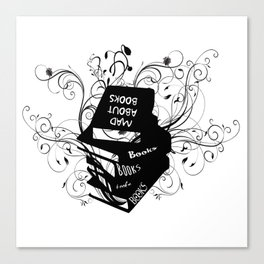 Mad About Books Canvas Print