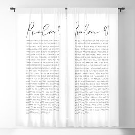 Psalm 91 Whoever dwells in the shelter of the Most High Blackout Curtain
