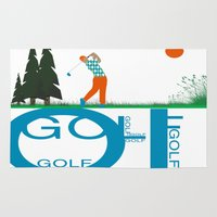 golf Area & Throw Rugs featuring Golf, golf, golf! by South43