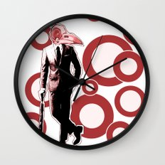 Gentlemen, We got a dead one here.. RED Version Wall Clock