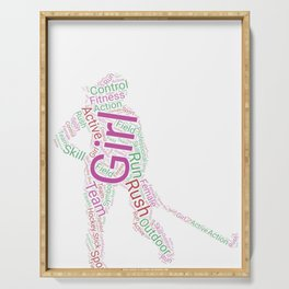 Field Hockey Word cloud product Gift Funny Field Hockey Girl Serving Tray