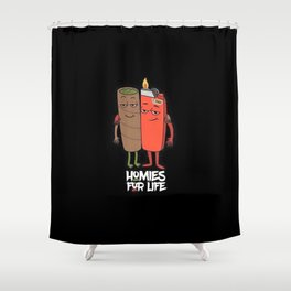 Homies for Life Shower Curtain