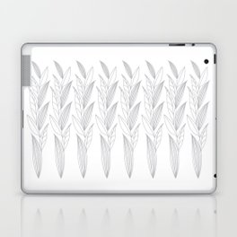 Growing Leaves: Silver Gray – White background Laptop & iPad Skin