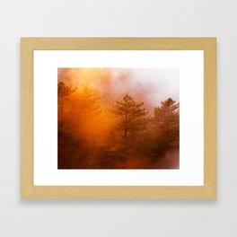 Sunrise Hug Framed Art Print