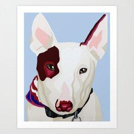 Archie the Bull Terrier Art Print