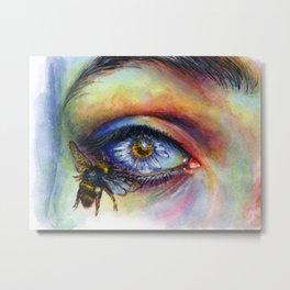 Flower eye Metal Print