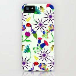 Bees in the garden iPhone Case