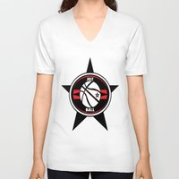 basketball V-neck T-shirts featuring BASKETBALL  by Robleedesigns