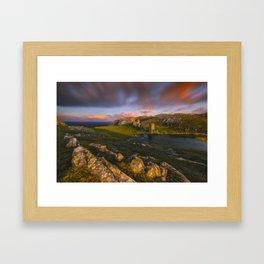Inseparable Towers Framed Art Print
