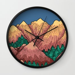 Natural Mountains Wall Clock