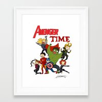avenger Framed Art Prints featuring Avenger Time! by ArtisticCole