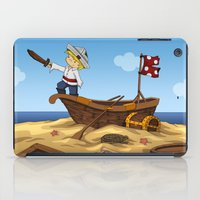 pirate ship iPad Cases featuring Pirate by TubaTOPAL