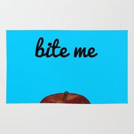 Bite Me - Blue Background Rug