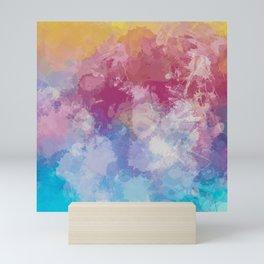 Bright Pastel Paint Splash Abstract Mini Art Print