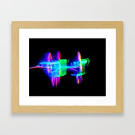 RAINBOW GLOW Framed Art Print