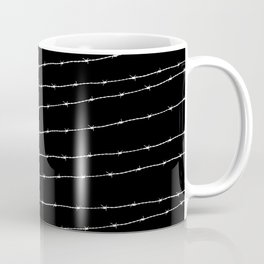 Cool black and white barbed wire pattern Coffee Mug