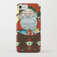 doraemon iPhone & iPod Cases featuring Santa by nu boniglio