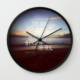Micah 7:19 Wall Clock