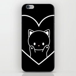 Cat in Heart iPhone Skin