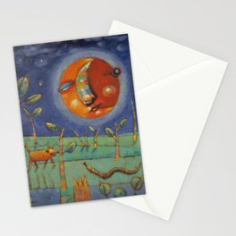 Thundersongs Of The Brilliant Beasts (Moon) Stationery Cards