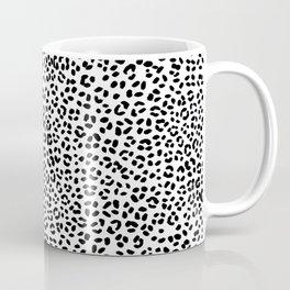 Black and White Snow Leopard Coffee Mug