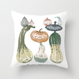 Courges Throw Pillow