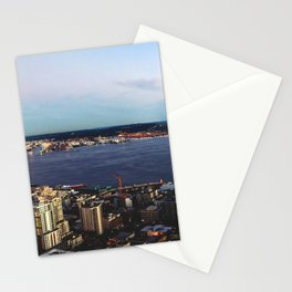 Seattle Summer Sunset from the Needle Panorama Stationery Cards