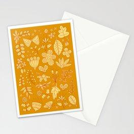 Garden Scatter - Saffron & Paprika (floral pattern) Stationery Cards