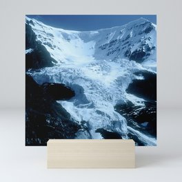 Mountain Glacier In The Shadows Of Late Afternoon Mini Art Print