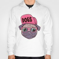 dogs Hoodies featuring Dogs by Lime