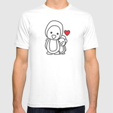 Penguin Sweetness Mens Fitted Tee White SMALL