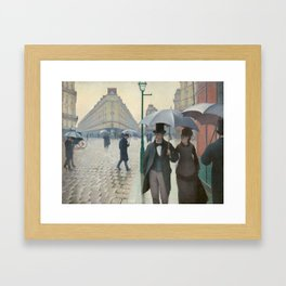 Gustave Caillebotte - Paris Street; Rainy Day Framed Art Print