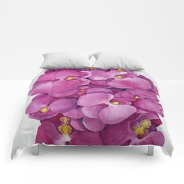 Watercolour Orchid Bloom Comforters