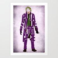 the joker Art Prints featuring Joker by Ayse Deniz