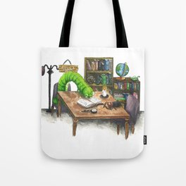 Little Worlds: The Library Tote Bag