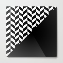BROKEN ABSTRACT GEOMETRY (BLACK-WHITE) Metal Print