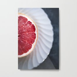 Grapefruit - Foodie Macro Metal Print