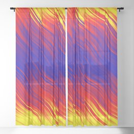 Stripes Wave Pattern 10 bryi Sheer Curtain