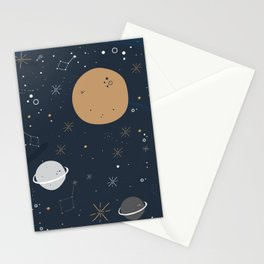 The Moon and the Stars Stationery Cards