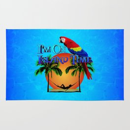 Island Time And Parrot Rug