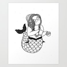 Barista Mermaid Art Print