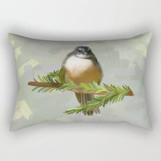 Fantail chick Rectangular Pillow