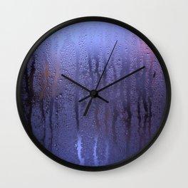 Purple Condensation Wall Clock