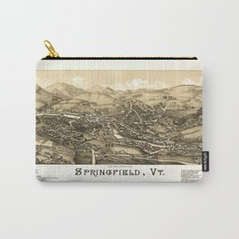 Aerial View of Springfield, Vermont (1886) Carry-All Pouch