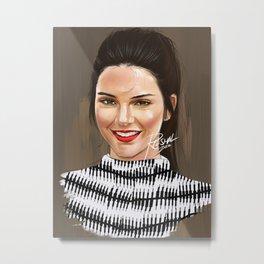 Kendall Jenner (Digital Portrait) Metal Print