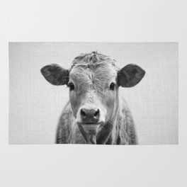 Cow 2 - Black & White Rug