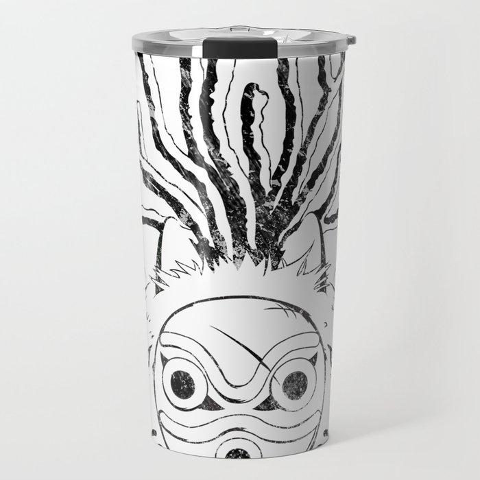 Wolf Princess (Black) Travel Mug